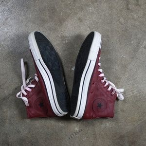 Converse waxed canvas high top sneakers